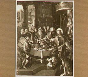 Chrtistus in het huis van Simon de Farizeeër (Lucas 7: 36-50)