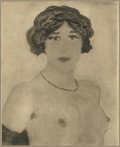 Vrouwelijk naakt met halsketting