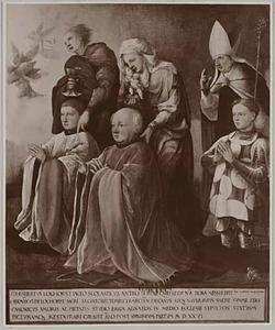 De HH. Johannes de Evangelist, Anna en Willibrord? met Gijsbert, Herman en Gerrit? Lochorst