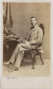 Portret van een man, waarschijnlijk Jan Werner baron van Pallandt (1835-1907)