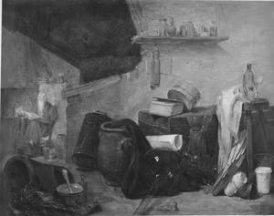 Alchimist in zijn werkplaats