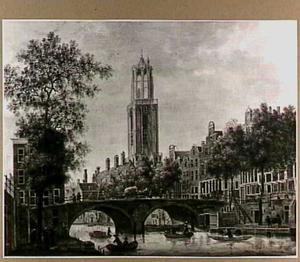 De Gaardbrug over de Oudegracht te Utrecht