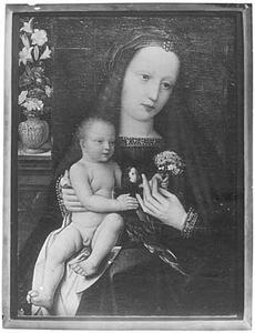 Maria met kind en papegaai