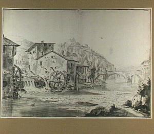 Watermolen aan de Gère in de omgeving van Vienne