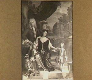 Portret van Cornelis van Schuylenburch (1683-1763) met zijn vrouw en drie kinderen
