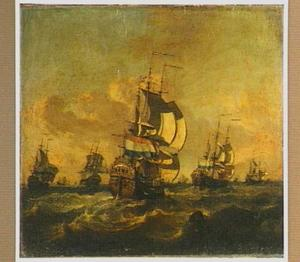 Hollandse driemasters op zee