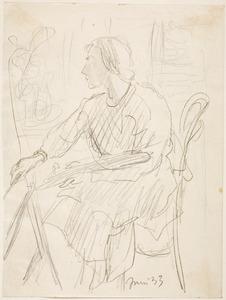 Amrey (Annemarie Balsiger) schilderend