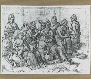 H. Familie met Anna, Elizabeth en Johannes de Doper