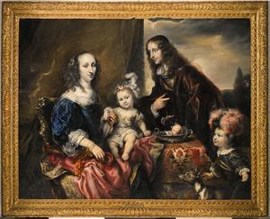 Portret van een familie, mogelijk kolonel John Hutchinson (1615–1664) en zijn gezin