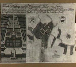 Kaart en afmetingen van het hof Schonenburg