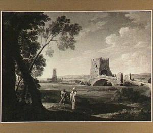 Landschap met de Ponte Salario bij Rome