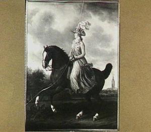 Ruiterportret van Frederika Sophia Wilhelmina van Pruisen (1751-1820), echtgenote van prins Willem V