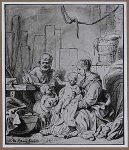 H. Familie met Johannes de Doper in de timmermanswerkplaats