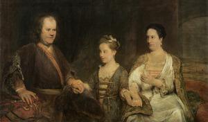 Portret van Hermannus Boerhaave (1668-1738), Maria Drolenvaux (1686-1746) en Johanna Maria Boerhaave (1712-1791)