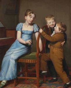 Drie kinderen rond een piano
