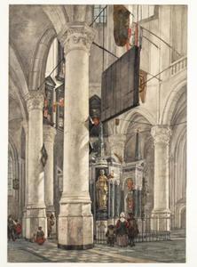 Delft, de Nieuwe Kerk met het praalgraf van Willem de Zwijger