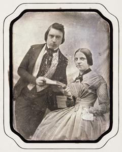Portret van Jan Margarethus van der Schalk (1826-1903) en Joanna Francina Benjamina Burgerhoudt (1831-1913)