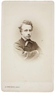 Portret van Franciscus Willem Everts (1848-1886)