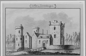 Voorzijde van kasteel Zevenbergen