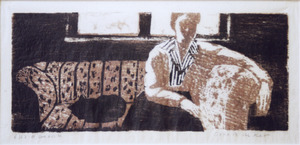 Vrouw op de bank