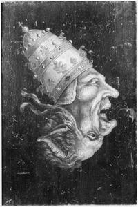Spotschildering op de paus (naar een prent uit 1558)