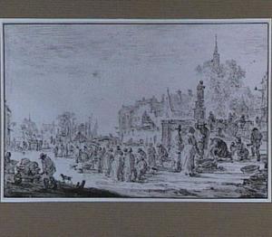 De Grote Markt met het standbeeld van Erasmus te Rotterdam