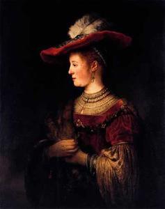 Portret van Saskia van Uylenburgh (1612-1642)