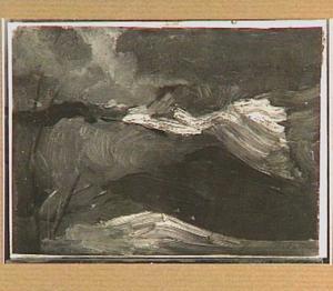 Heuvellandschap in storm