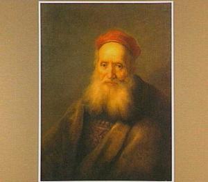 oude man met een rode baret