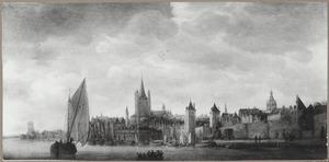 Schepen op de Rijn bij Keulen