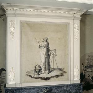 Vrouw met globe en kijker, Astronomia