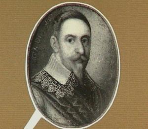 Portretminiatuur van Gustav II Adolf  (1594-1632), koning van Zweden