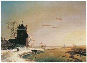 Winter scène, Holland