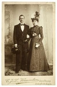 Portret van Johannes Jacobus de Lavieter (1869-1948) en Elisabeth Johanna Hardenberg (1867-1956)