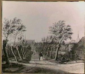 Het Nachtegaalspad (tegenwoordig: Parkstrtaat) in Den