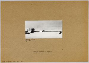 Het dorp Elspeet bij sneeuw