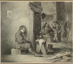 Sluimerende roker in een herberg