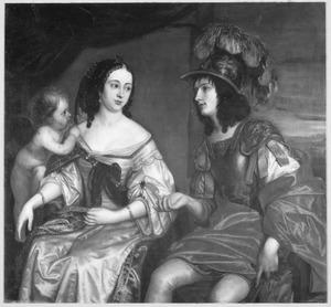 Dubbelportret van een paar, mogelijk Maurits Lodewijk I van Nassau-LaLecq (1631-1683) en Anna Isabella van Beieren Schagen (1636-1716) als Mars en Venus