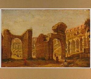 Gezicht in het Colosseum in Rome