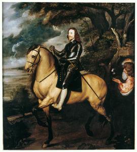 Portret van Charles I Stuart (1600-1649), met Sir Thomas Morton