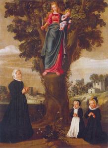Onze-Lieve-Vrouw van Wittentak te Ronse met Ernestine Yolande, gravin van Nassau-Siegen, geboren prinses de Ligne en haar dochters Clara Maria en Ernestine Charlotte