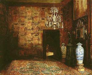 De grote zaal in het huis Wijchel van Lellens