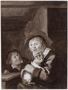 Twee kinderen met een kat