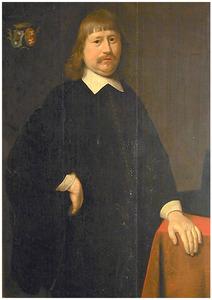 Portret van Regnerus Tjaerda (..-1668), echtgenoot van Johanna Folckers