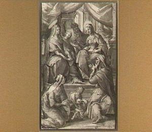 H. Familie,  H. Anna en Joachim, H. Elizabeth en Zacharias met H. Johannes de Doper