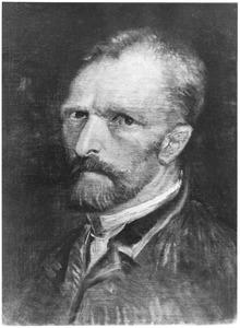 Zelfportret met stropdas, naar links