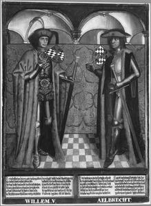 Haarlemse gravenportretten: Willem V en Albrecht van Beieren
