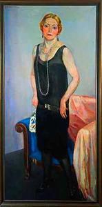 Portret van mevrouw Claire Marie van der Vuurst de Vries-Dreher (1873-1941)