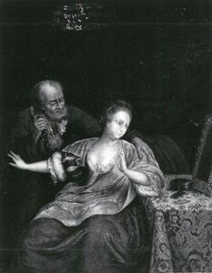 Het ongelijke paar: jonge vrouw met oude man