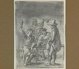 Lazarillo sluit vriendschap met Duitse landsknechten (Lazarillo de Tormes dl. 1, cap. 19, p. 54)